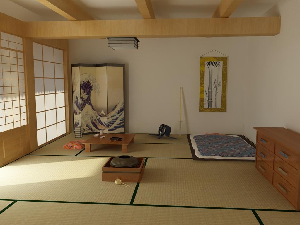 Освещение в японской спальне