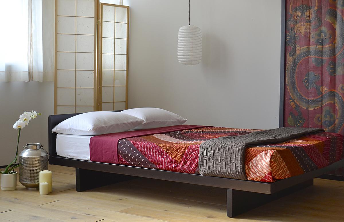 Текстиль в японской спальне
