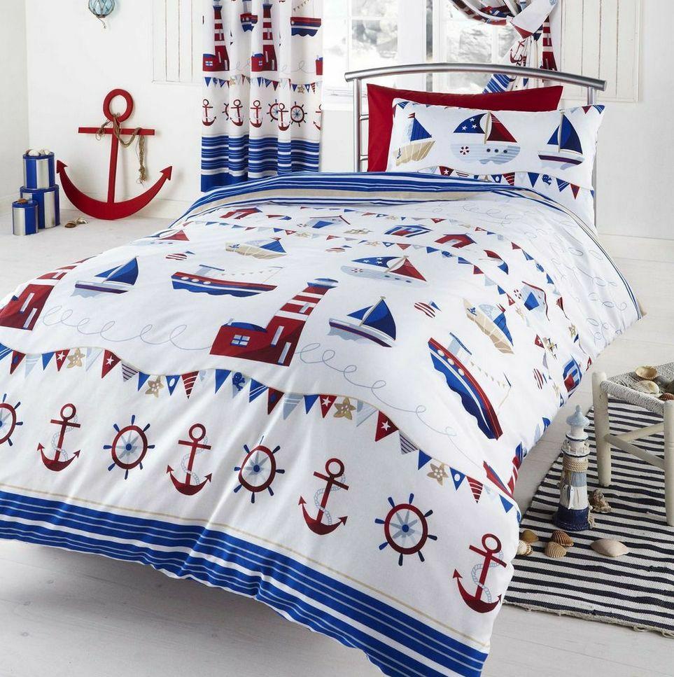 Текстиль в морском стиле в детской