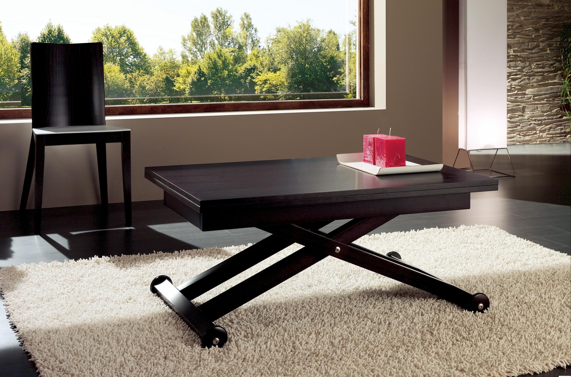 Темный стол трансформер