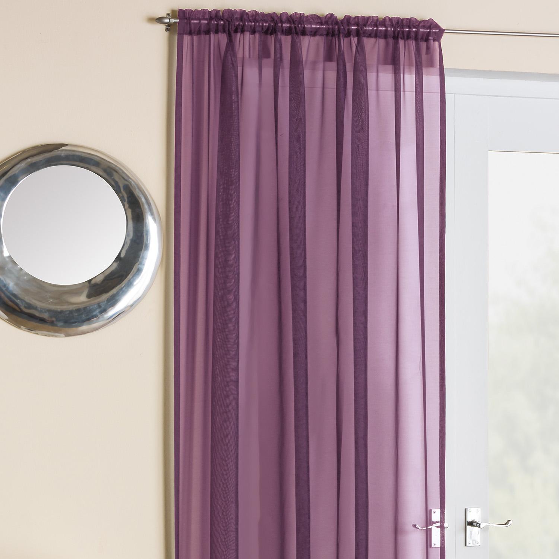 Темно-сиреневые шторы