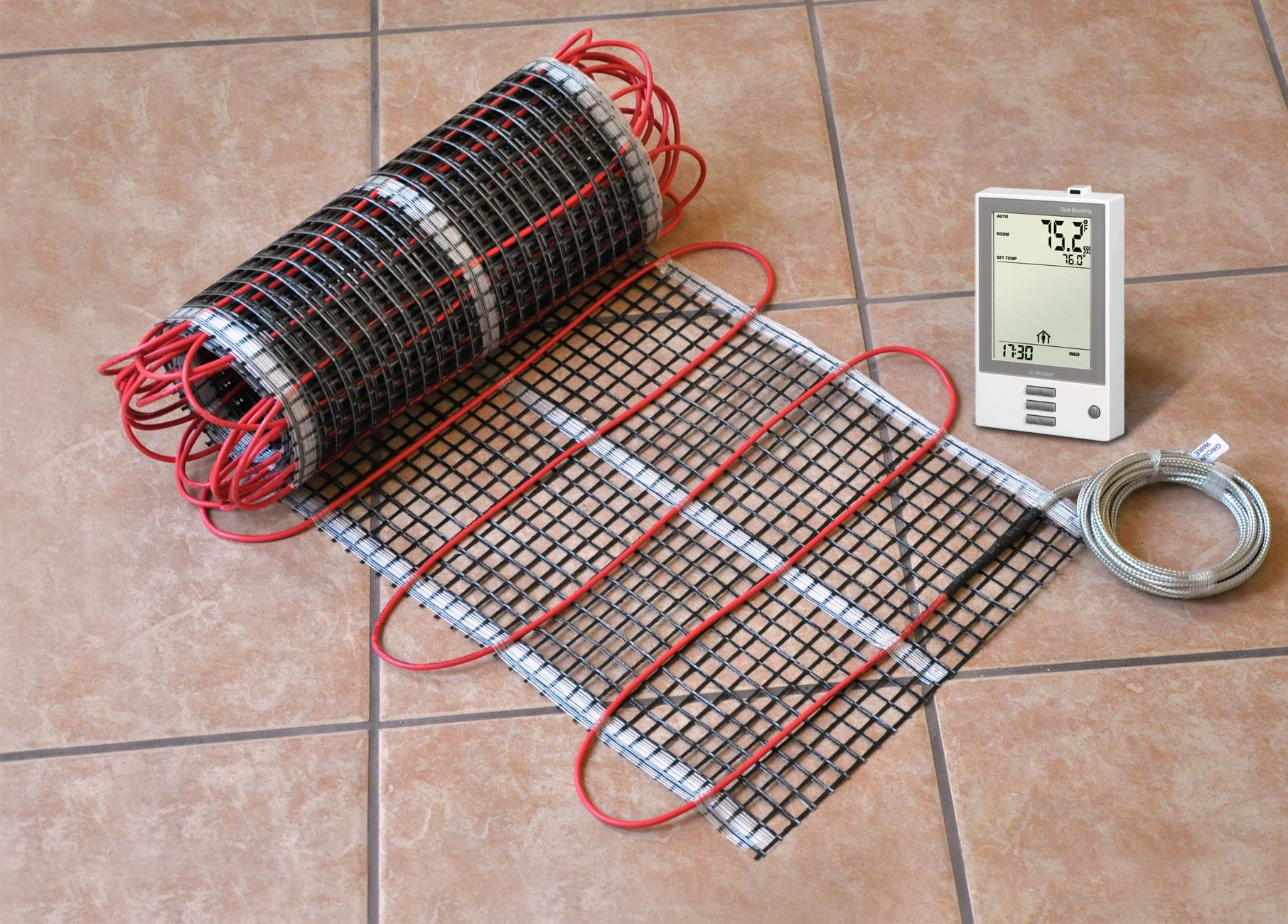 Теплый пол под линолеум с терморегулятором