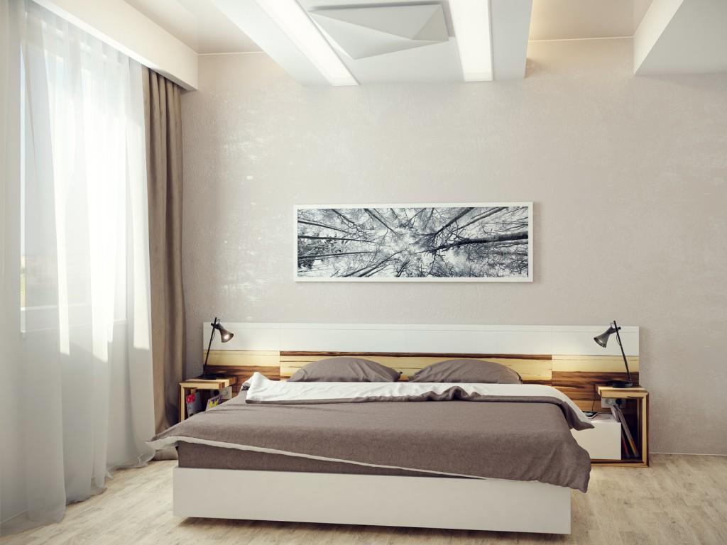 Картина на стене в спальне