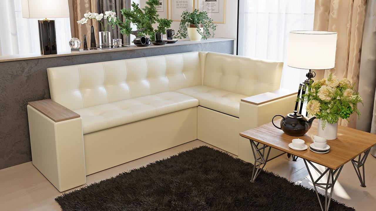Угловой диван-трансформер на кухню