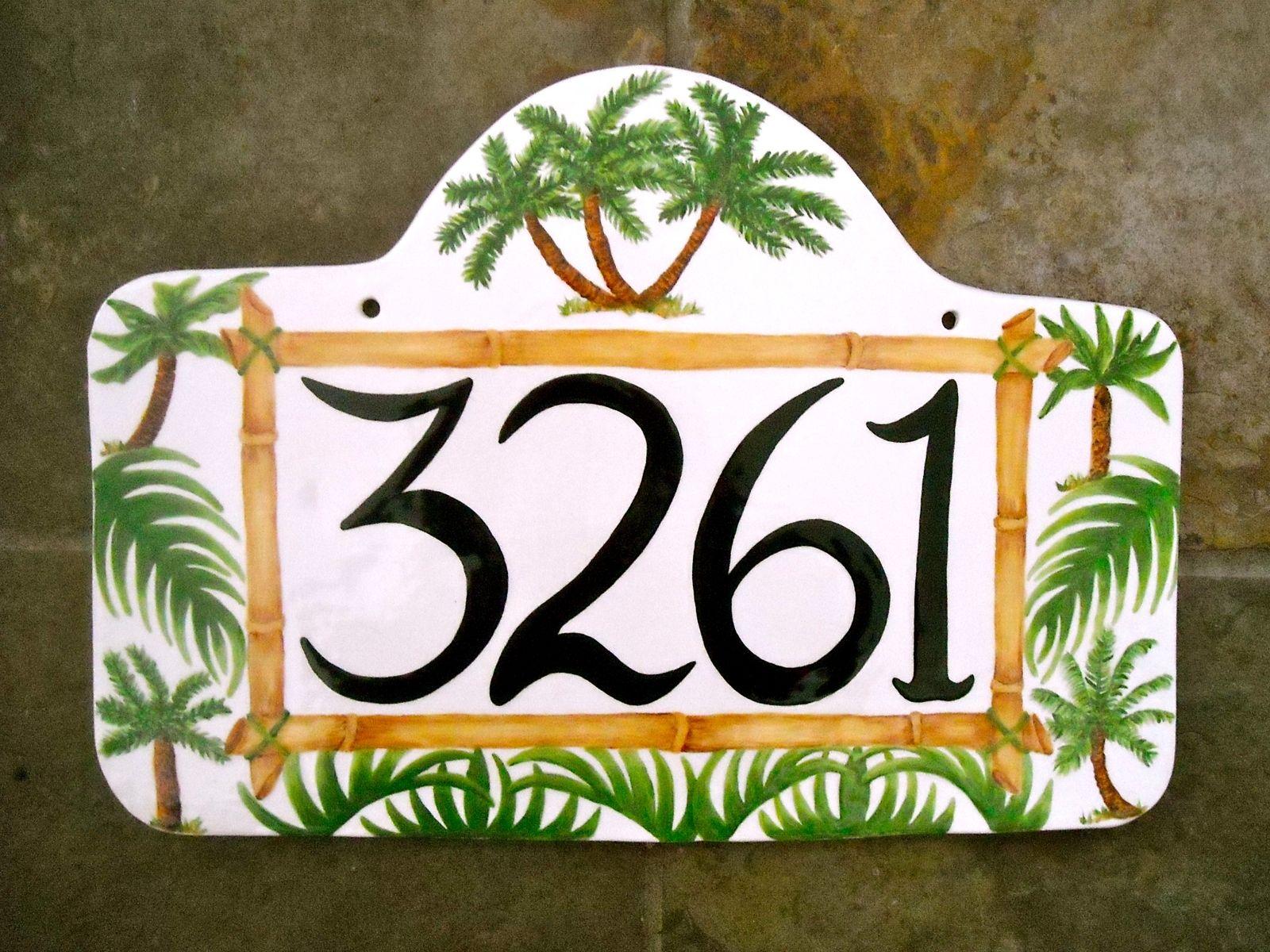 Табличка на дом в тропическом стиле