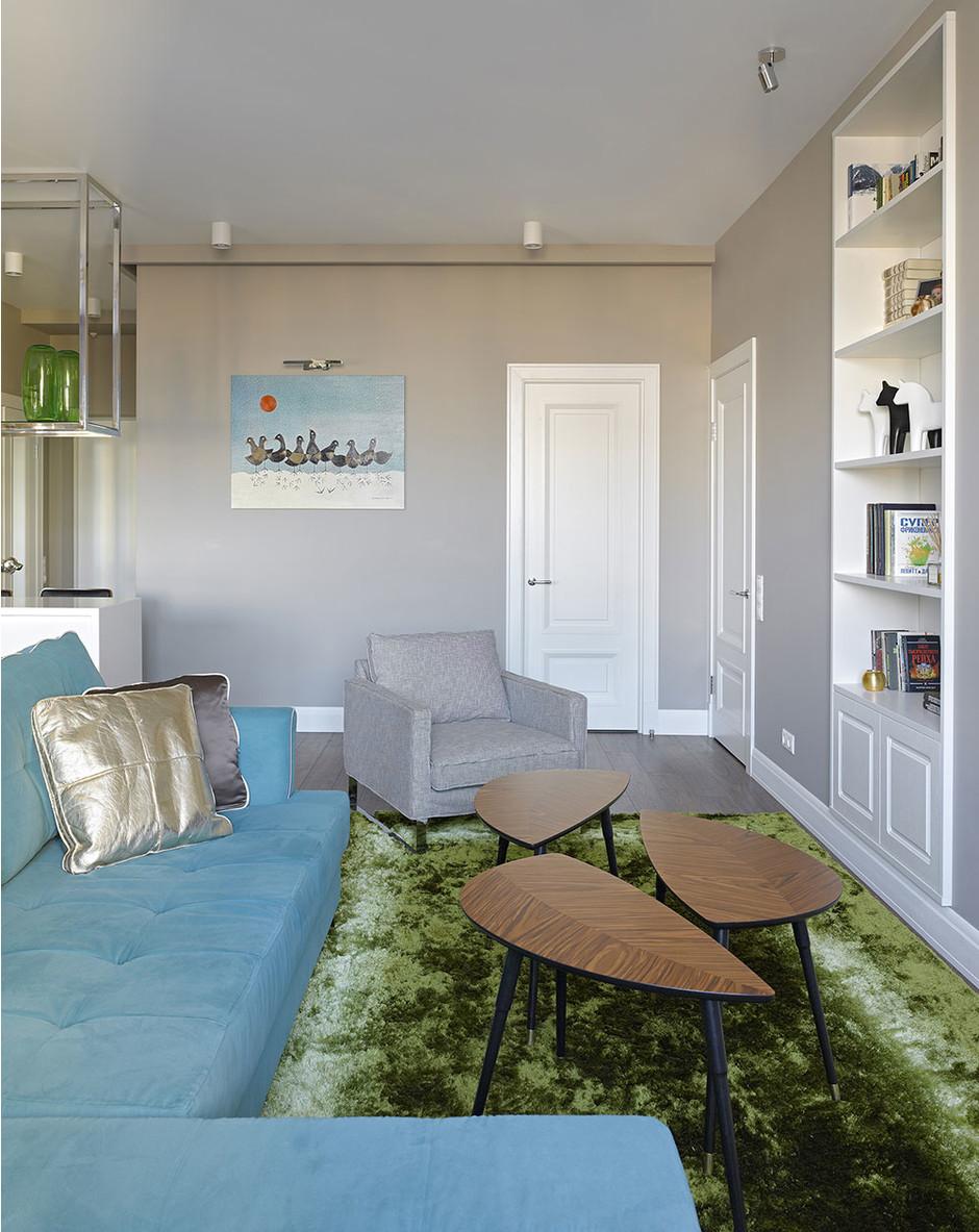 Бирюзовый угловой диван