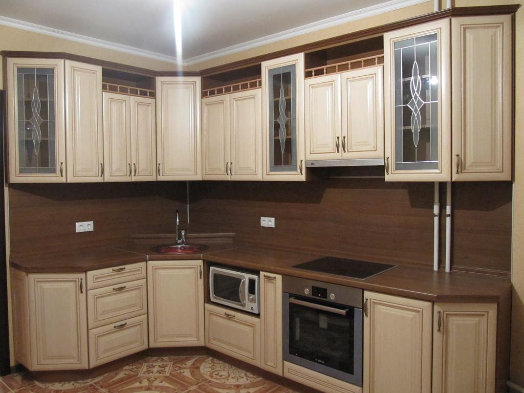 Кухня МДФ цвета ванили