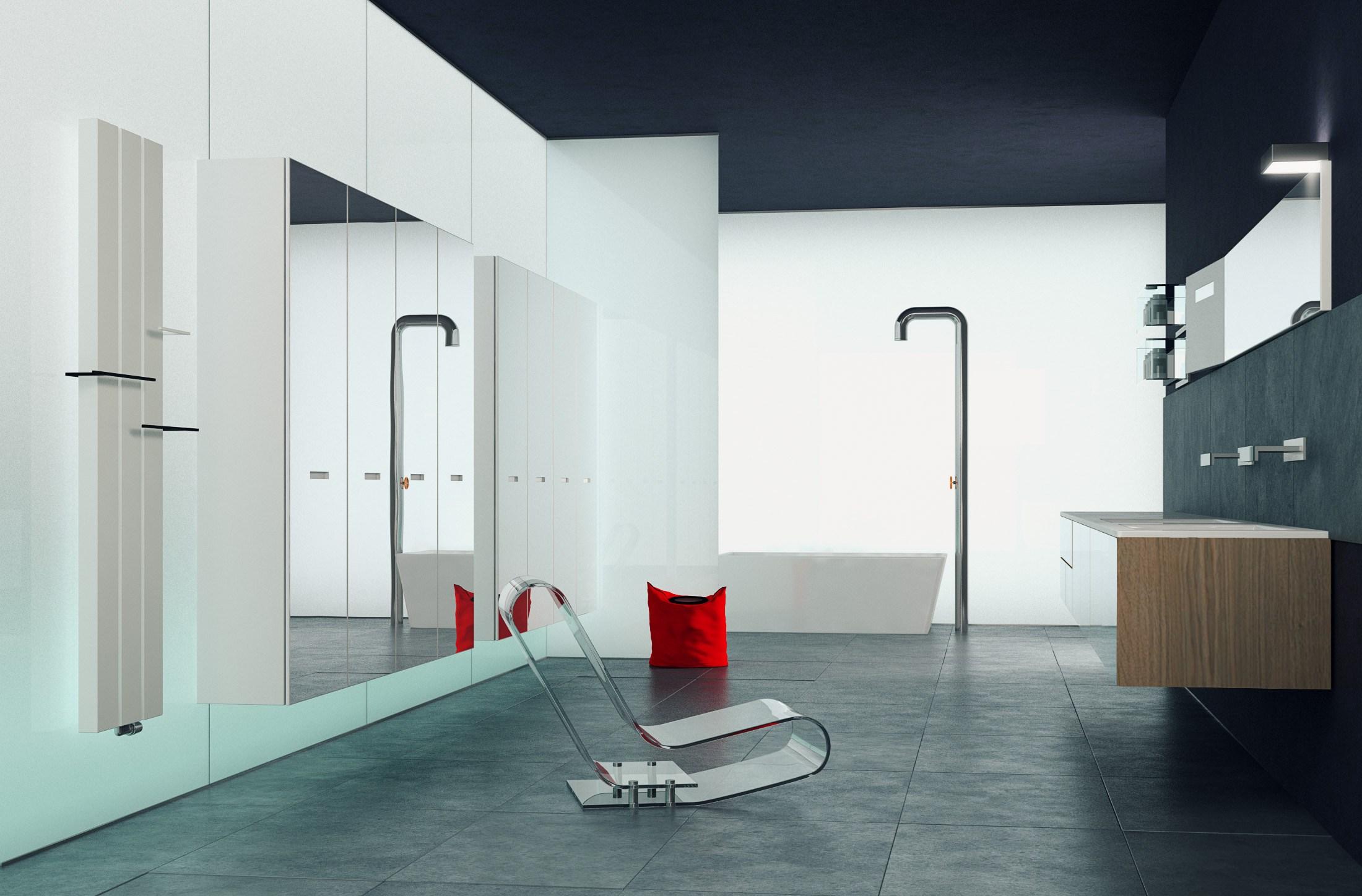 Алюминиевый радиатор в ванной