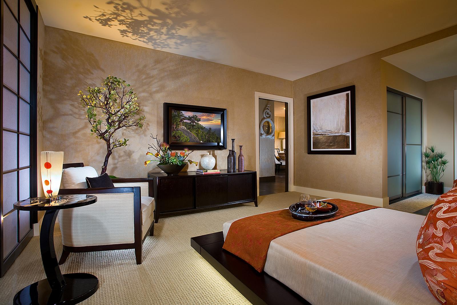 Японская спальня цвета венге