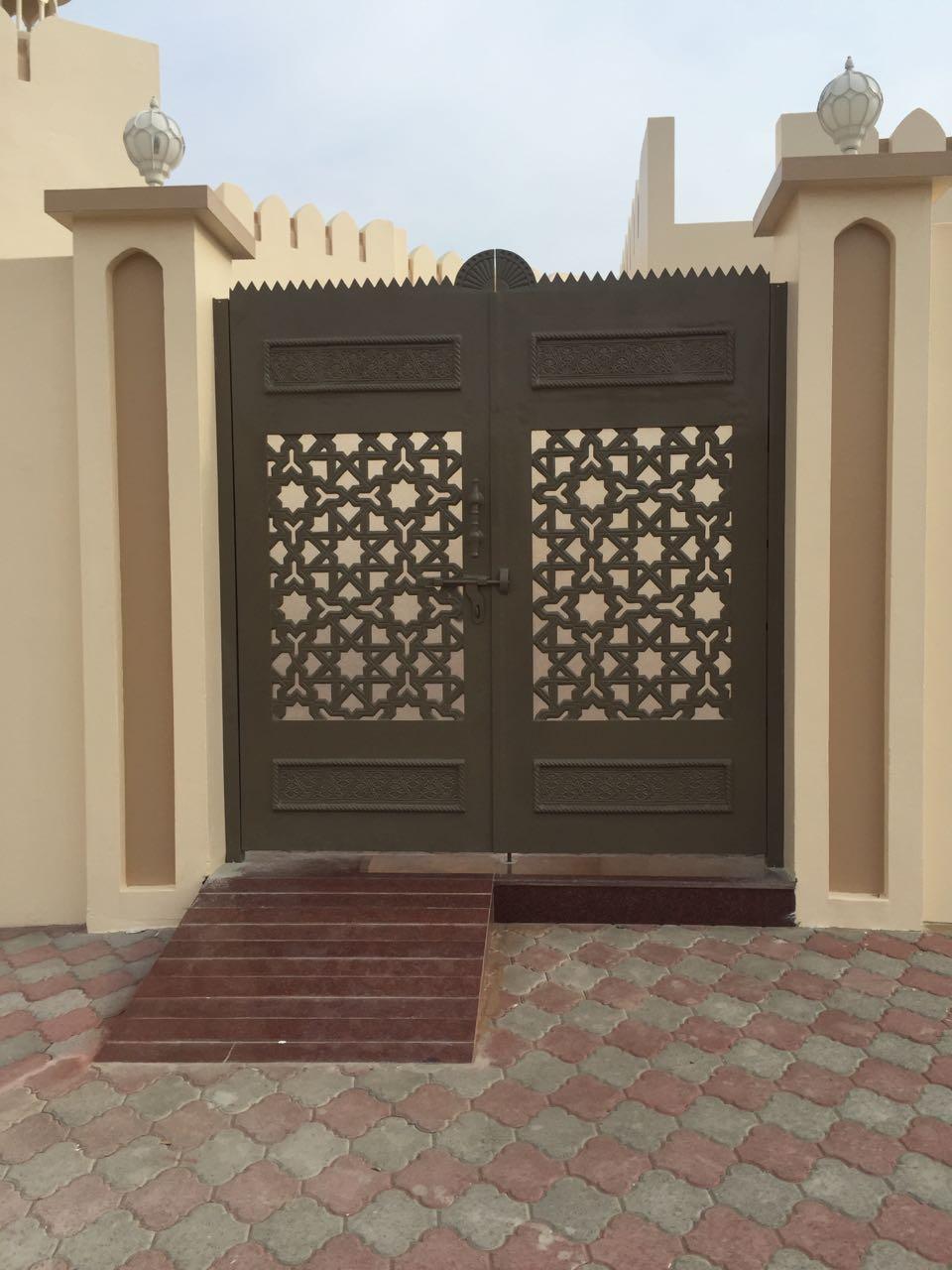 Стальные ворота в восточном стиле