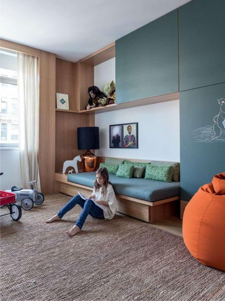 Встроенный диван кровать для подростка