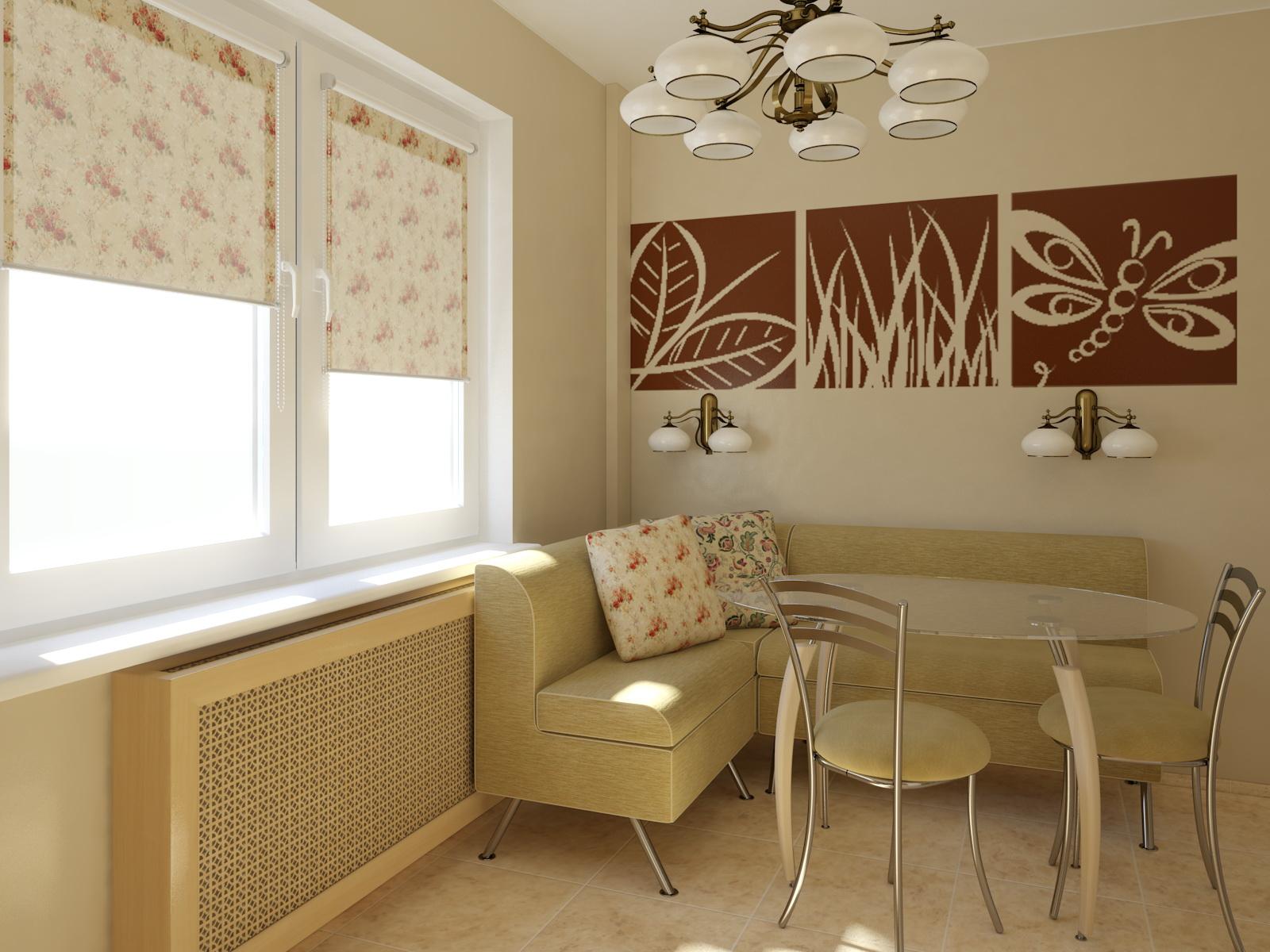 Угловой диван с ящиками на кухню