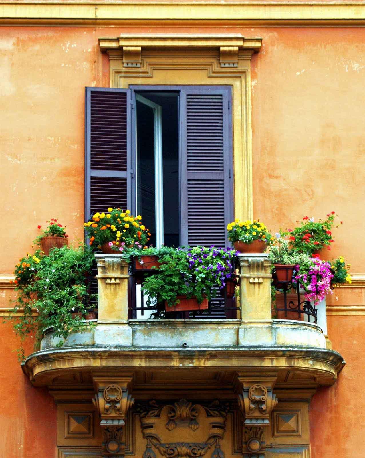 Балконная жалюзийная дверь