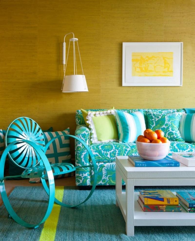 Бирюзово-зеленый диван