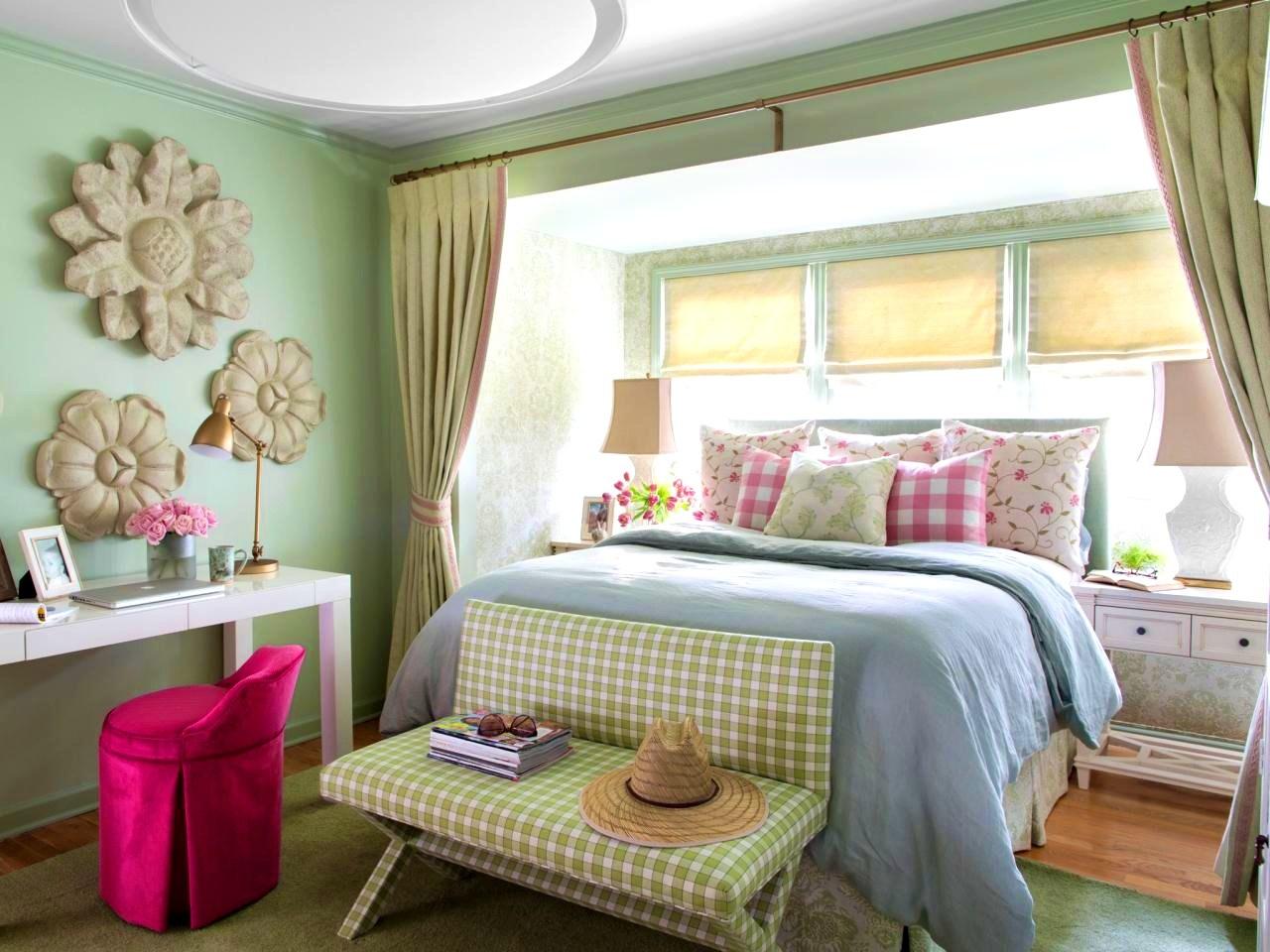 Зеленые шторы для дачи