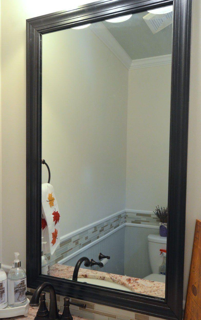 Рамка из плинтуса для зеркала