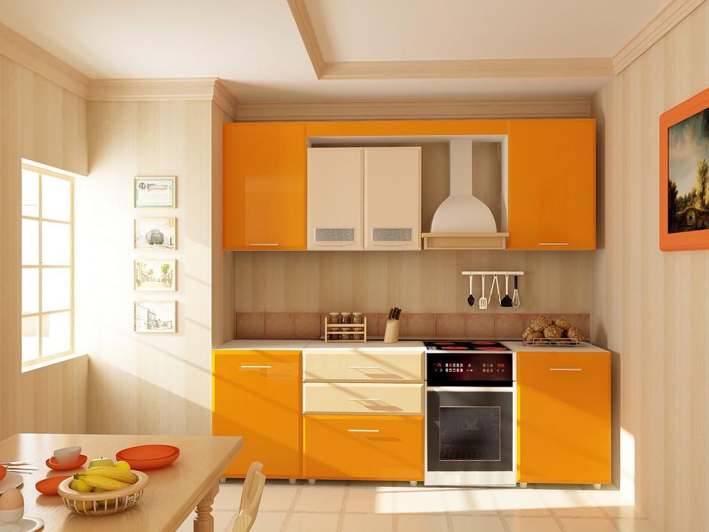 Желтая кухня МДФ