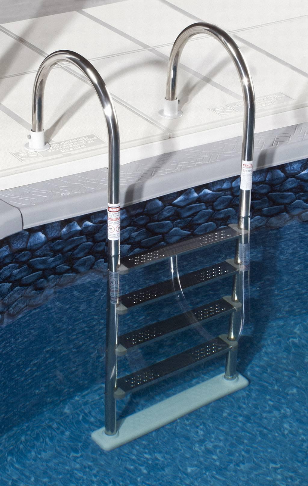Лестница для бассейна алюминиевая