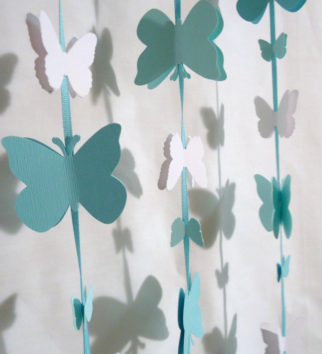 Гирлянда бабочки из бумаги