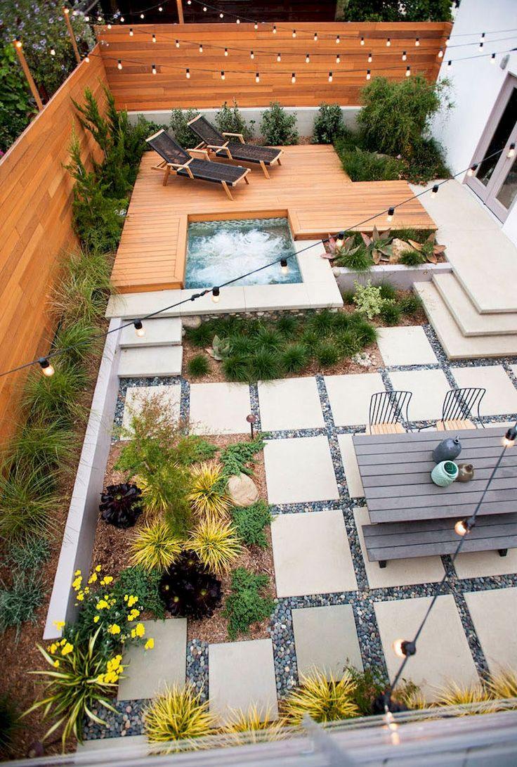 Ландшафтный дизайн сада с бассейном