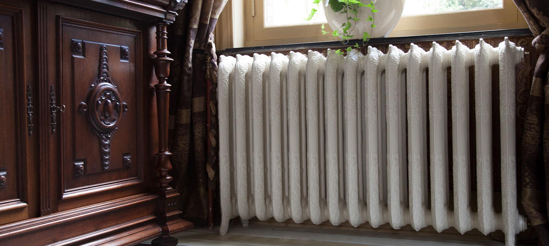 Белый водяной радиатор