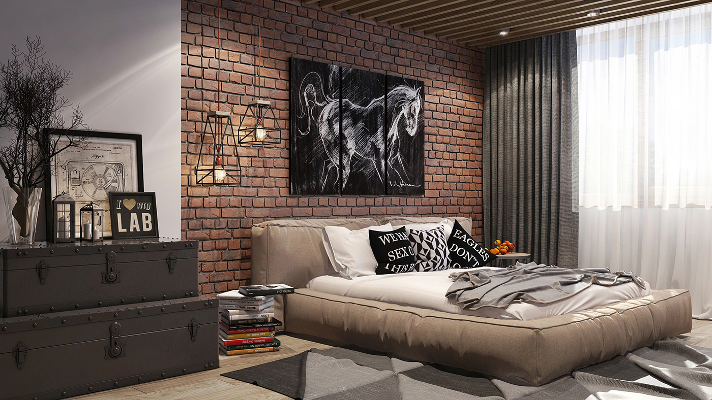 Бескаркасная кровать в стиле лофт