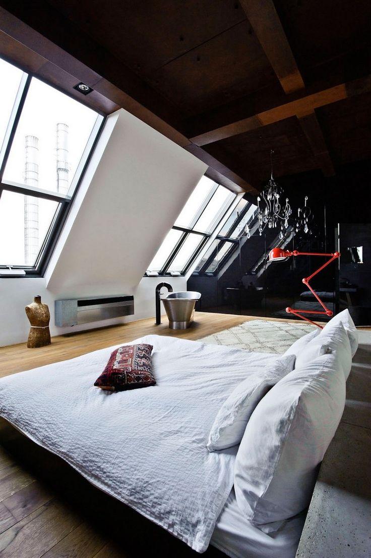 Кровать без изголовья в стиле лофт