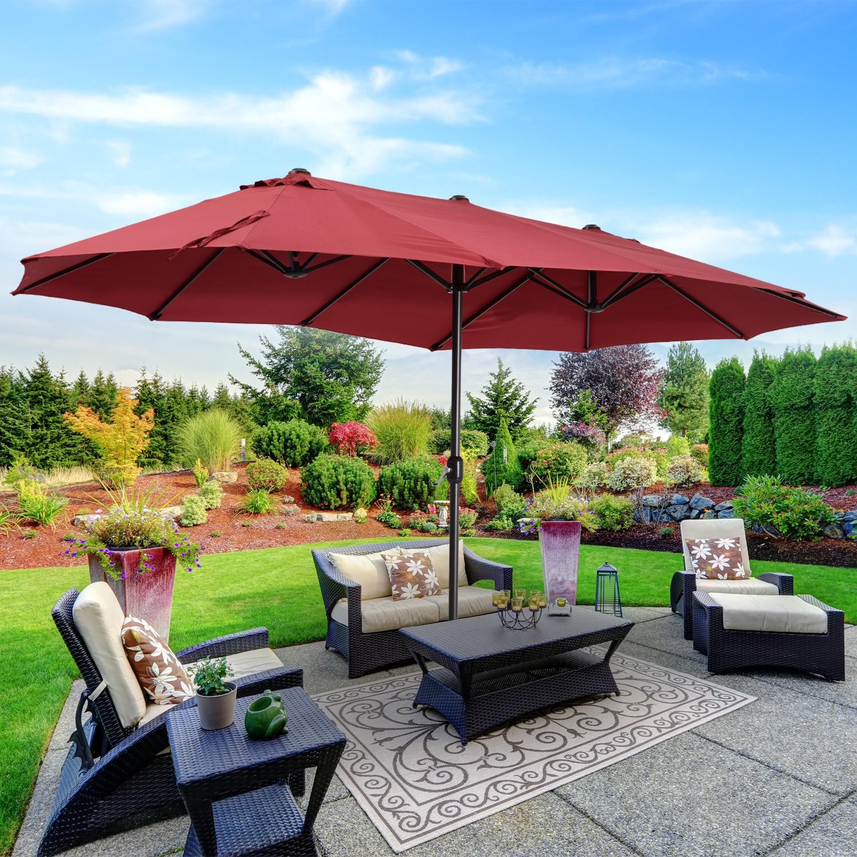 Садовый зонт большой