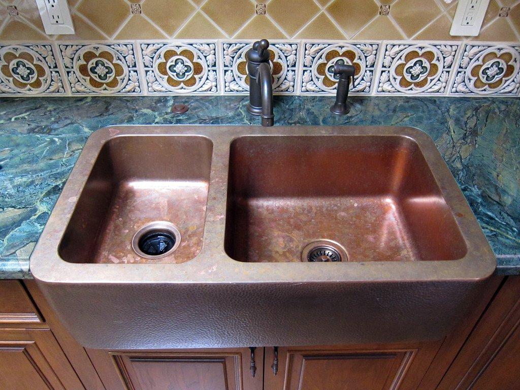 Кухонная раковина бронза