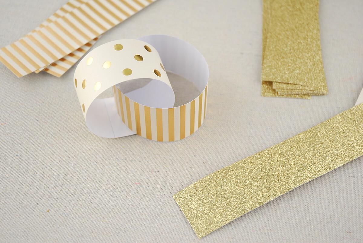 Гирлянда цепь из бумаги
