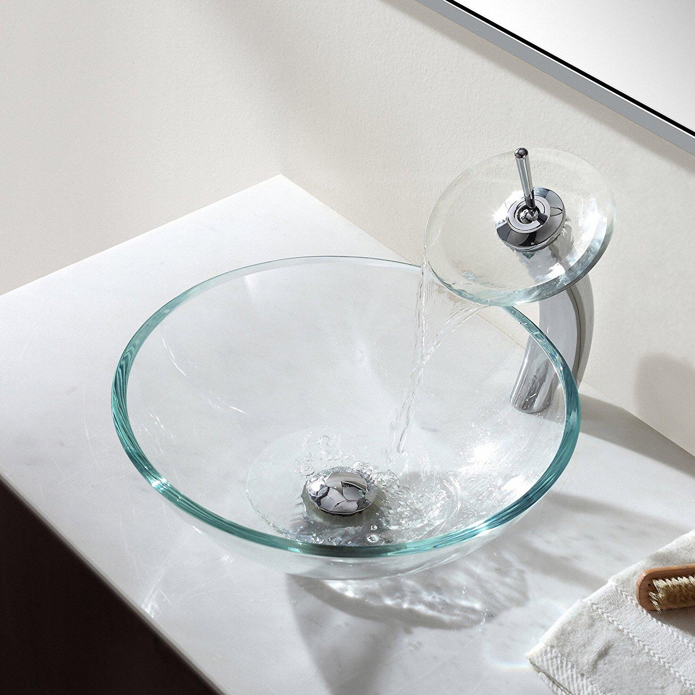Стеклянная раковина чаша
