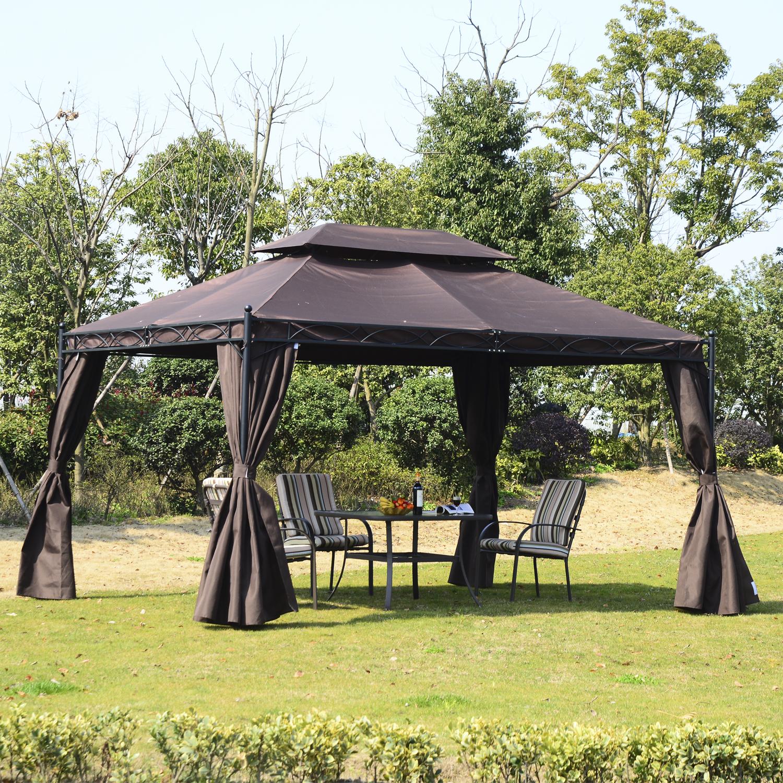 Садовый шатер черного цвета