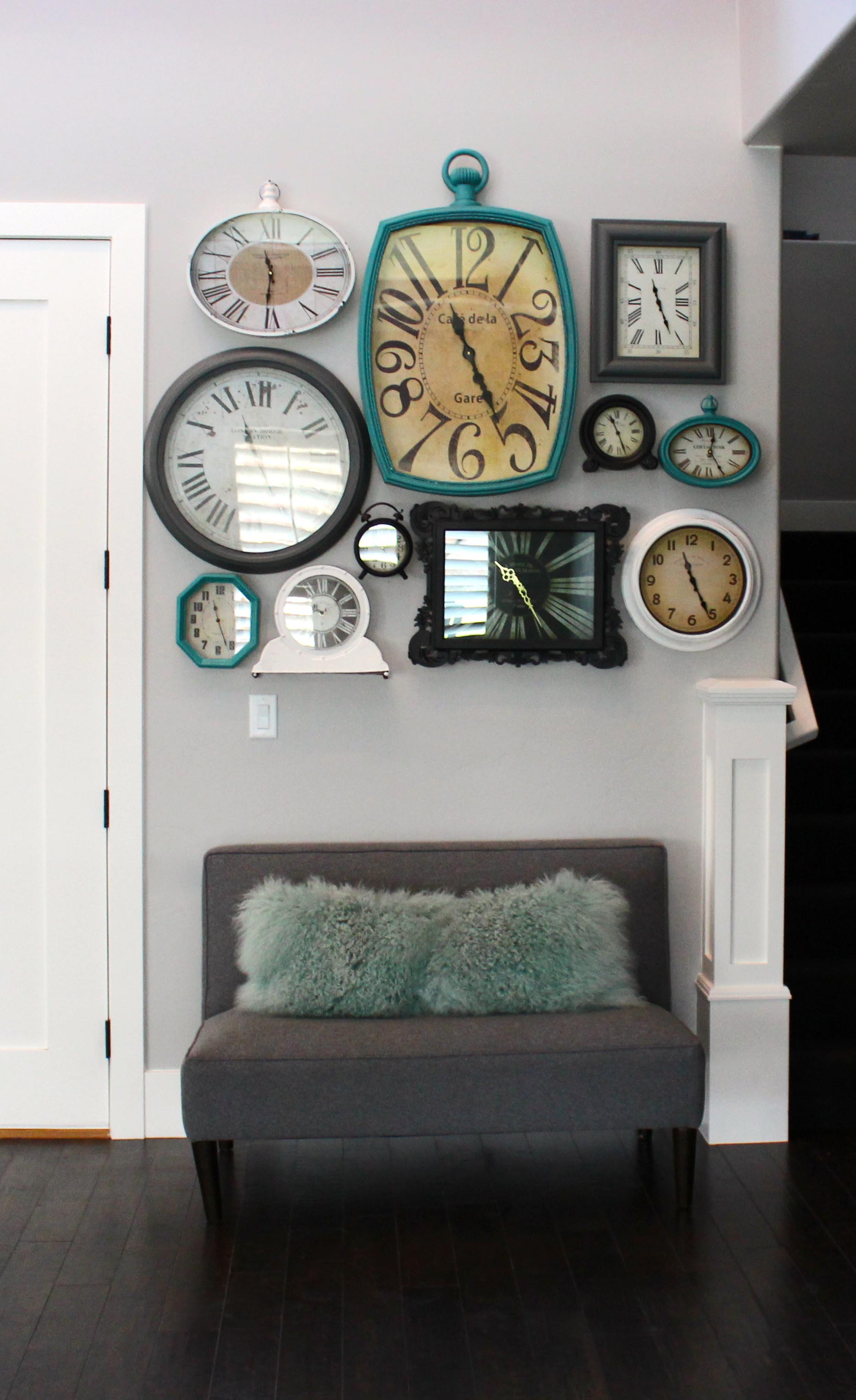 Декор из настенных часов