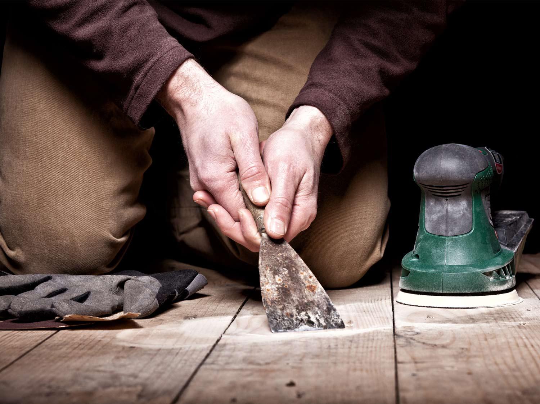 Шпаклевка деревянного пола