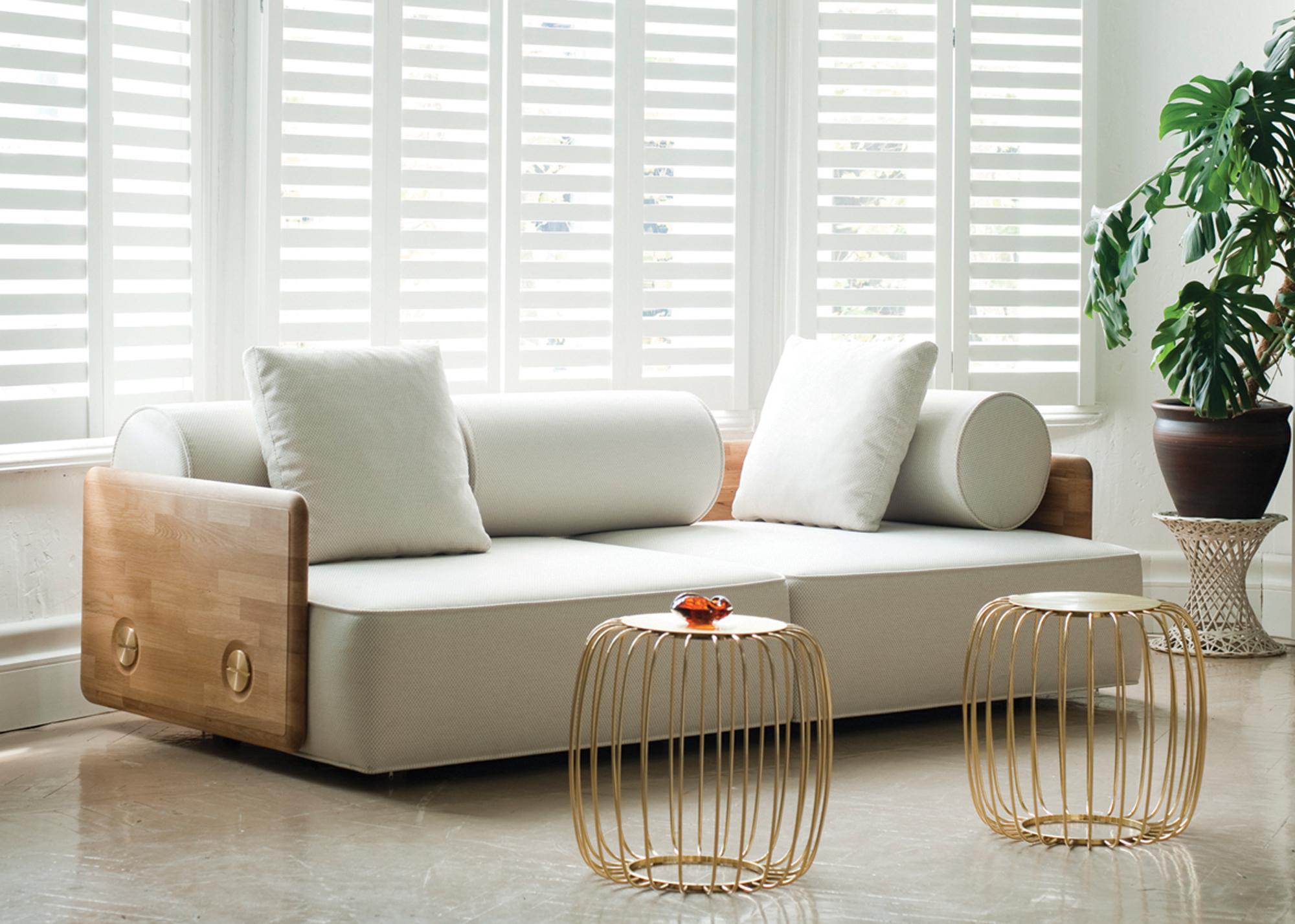 Деревянный диван амстердам