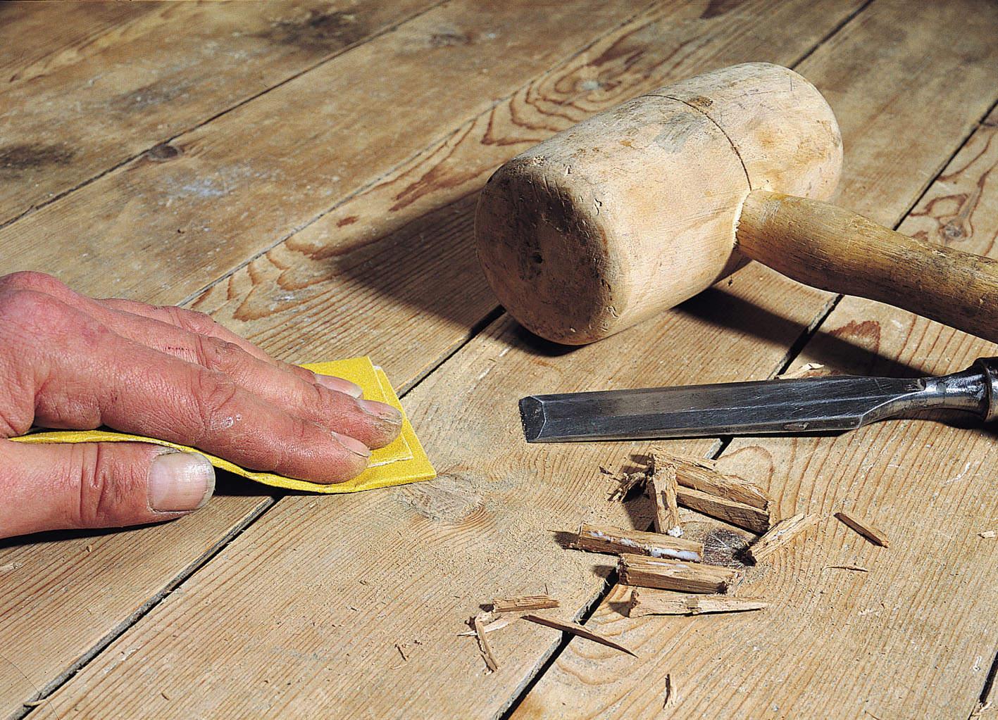 Шпаклевка пола из дерева