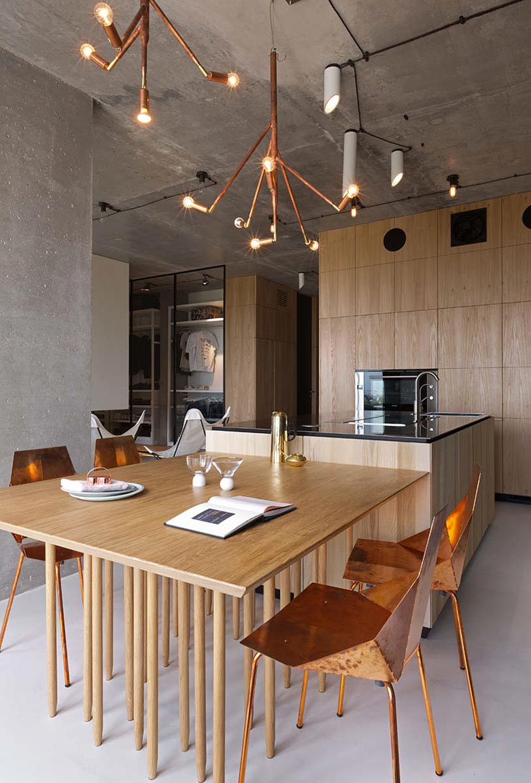 Дизайн стола лофт