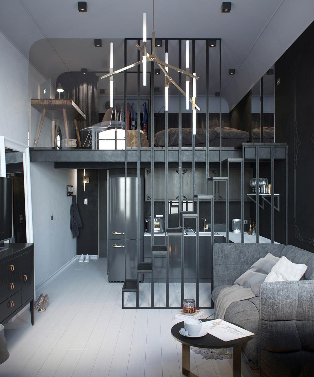 Двухэтажная студия лофт