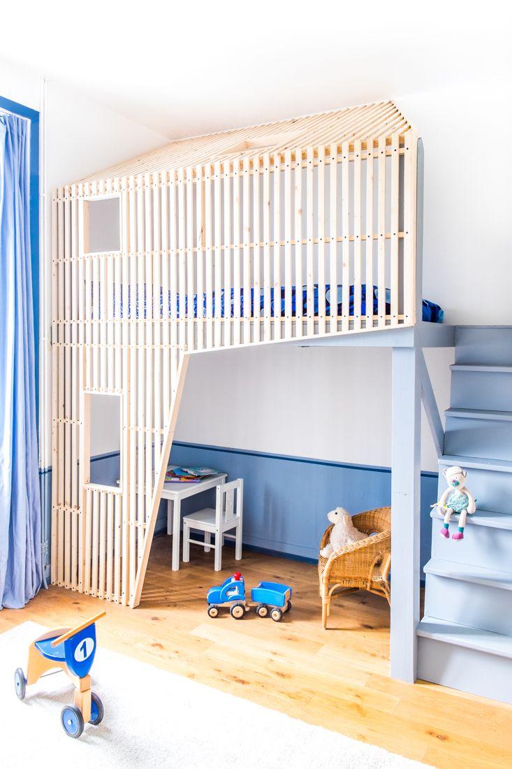 Детская в стиле лофт двухэтажная