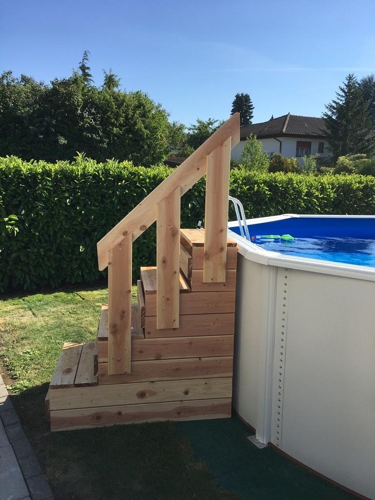 Лестница для бассейна двусторонняя