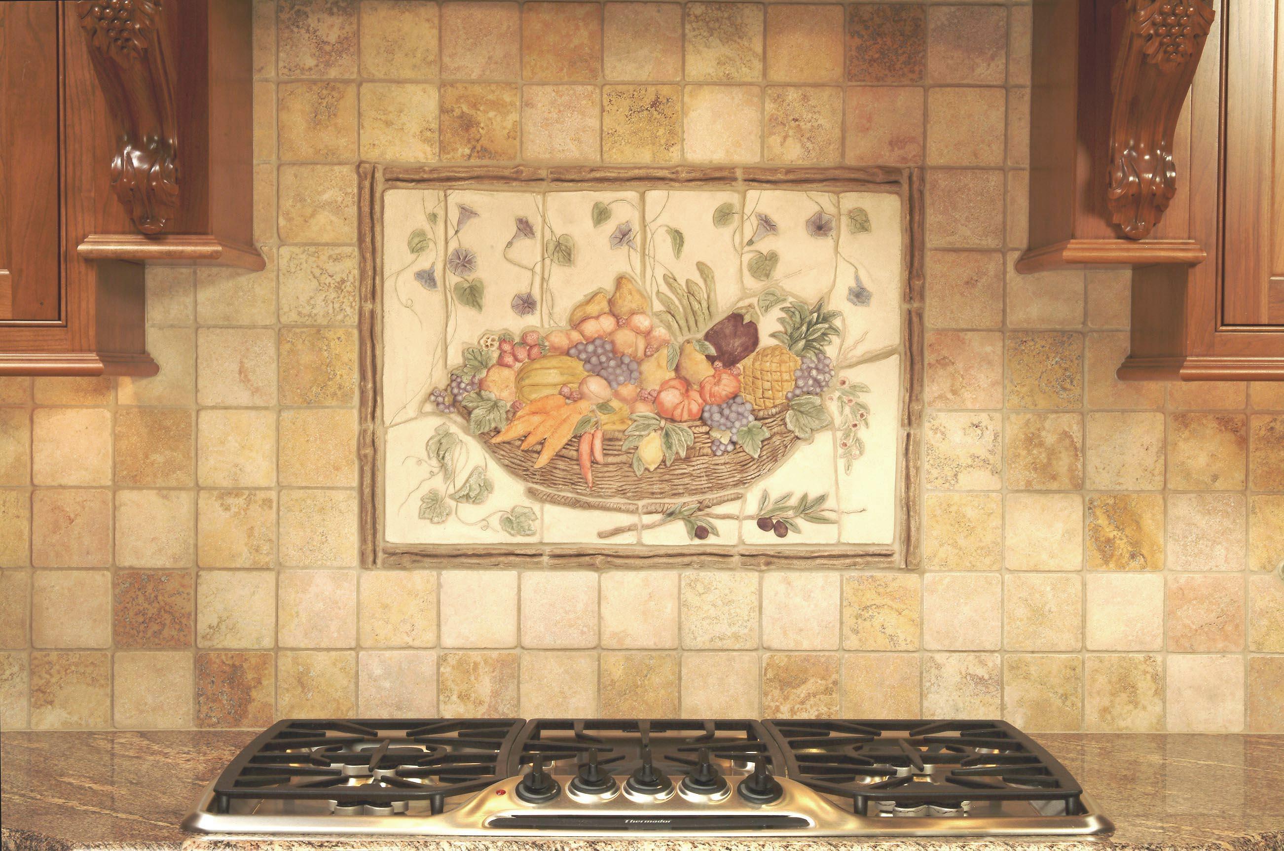 Кухонный фартук из плитки прованс