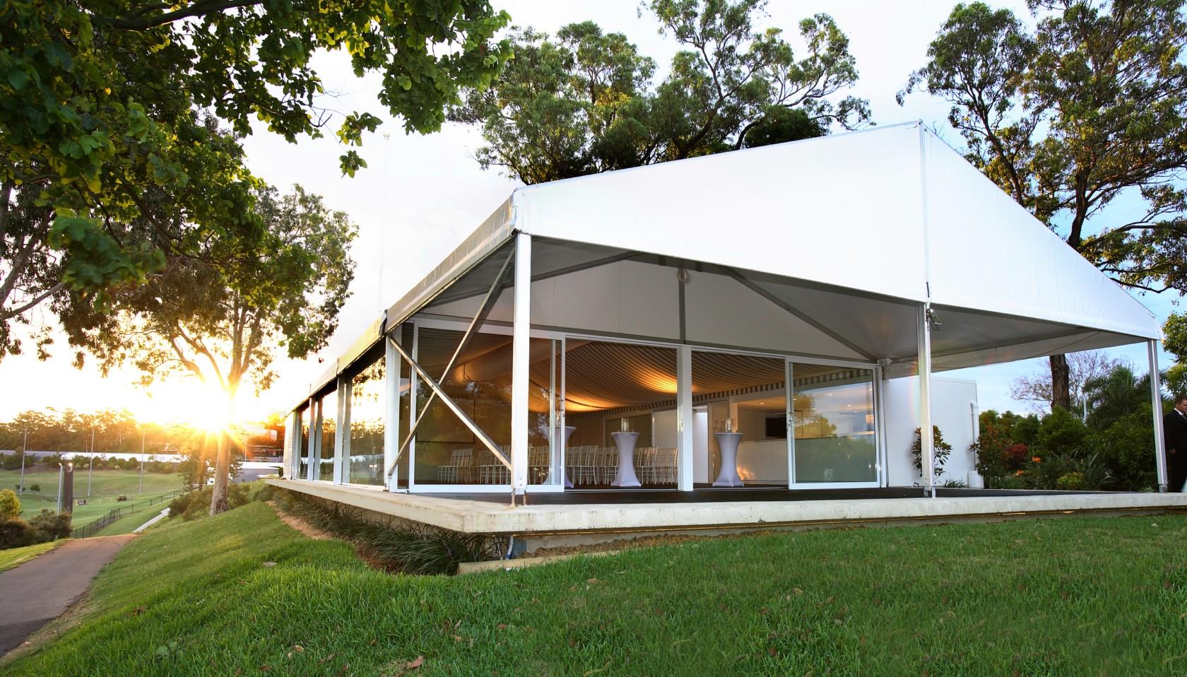 Садовый шатер на фундаменте