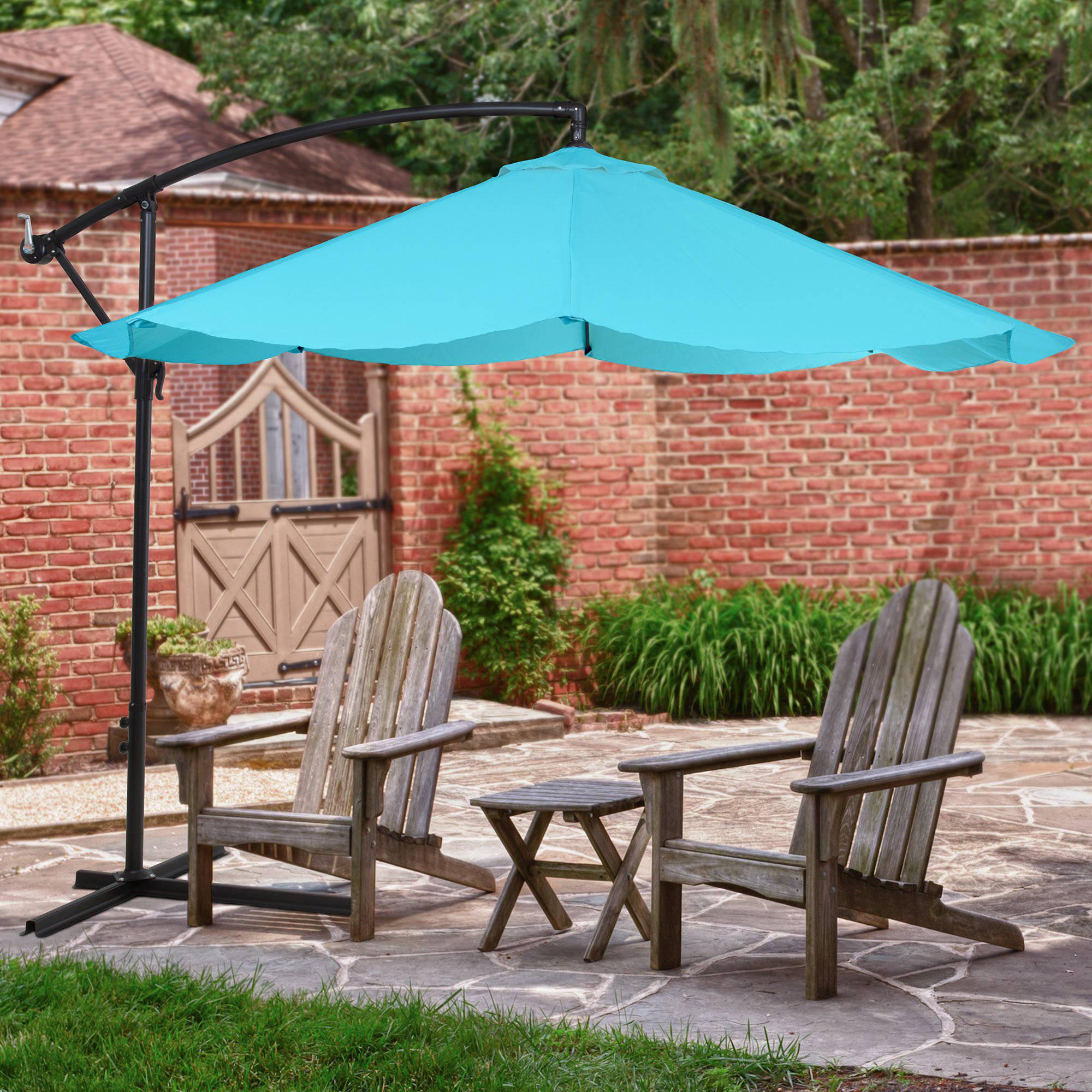 Садовый зонт голубой