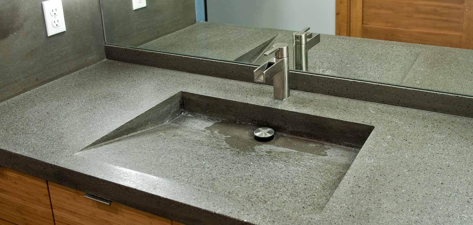 Встраиваемая раковина с гранитной столешницей