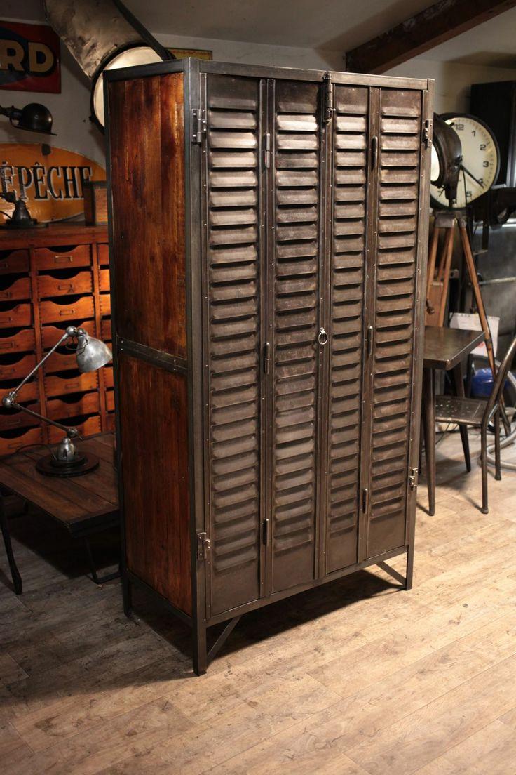 Шкаф в индустриальном стиле