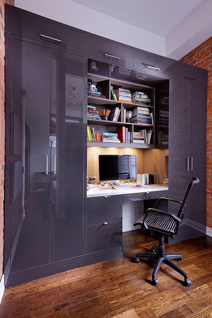Шкаф лофт в кабинете