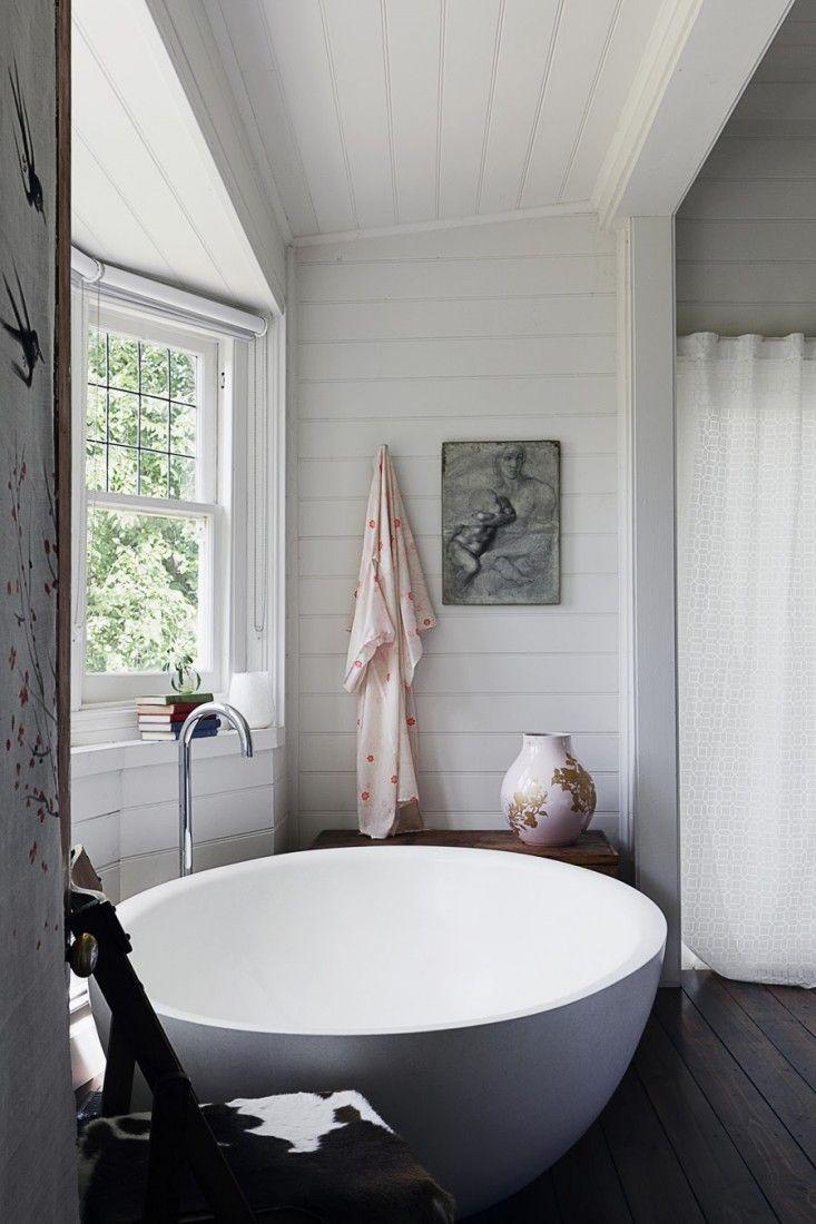 Ванная без раковины в стиле кантри