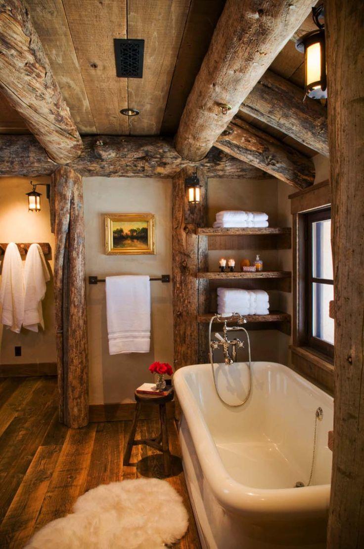 Дачный туалет в стиле кантри