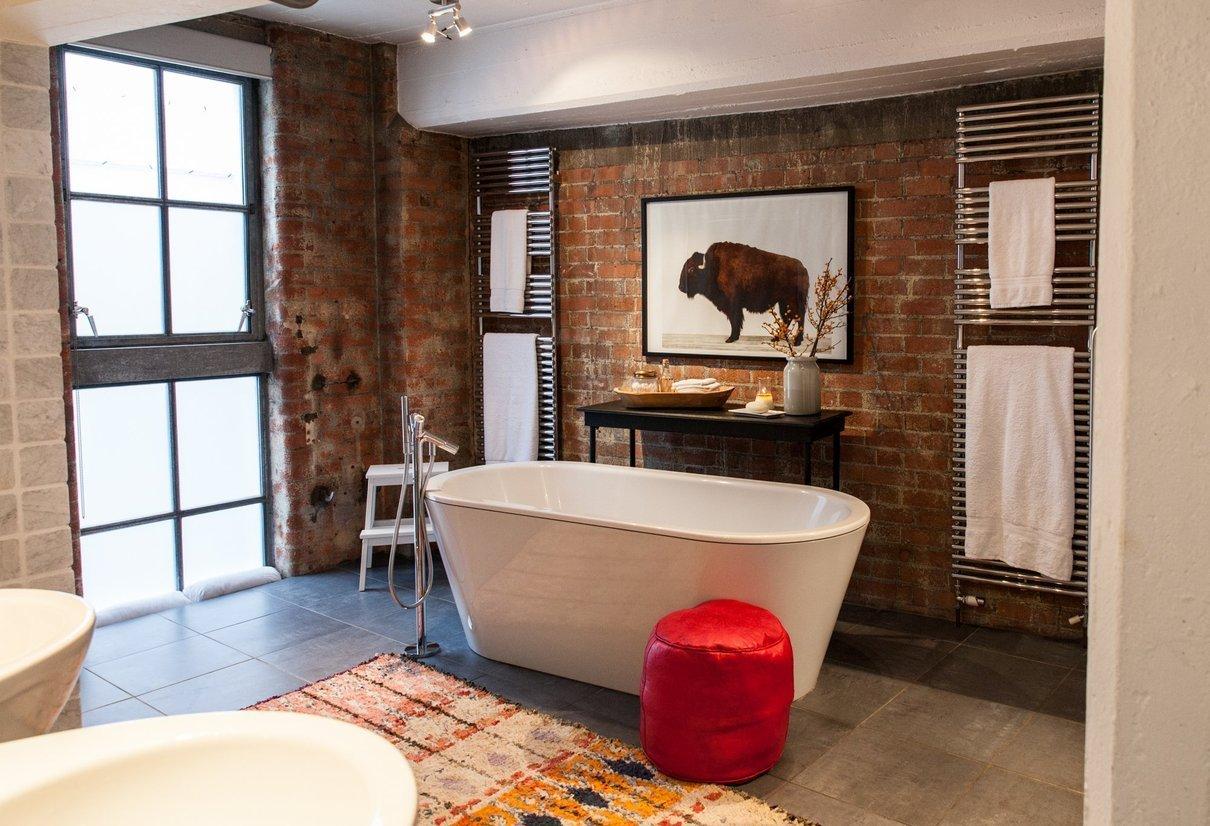 Ванная комната в студии лофт
