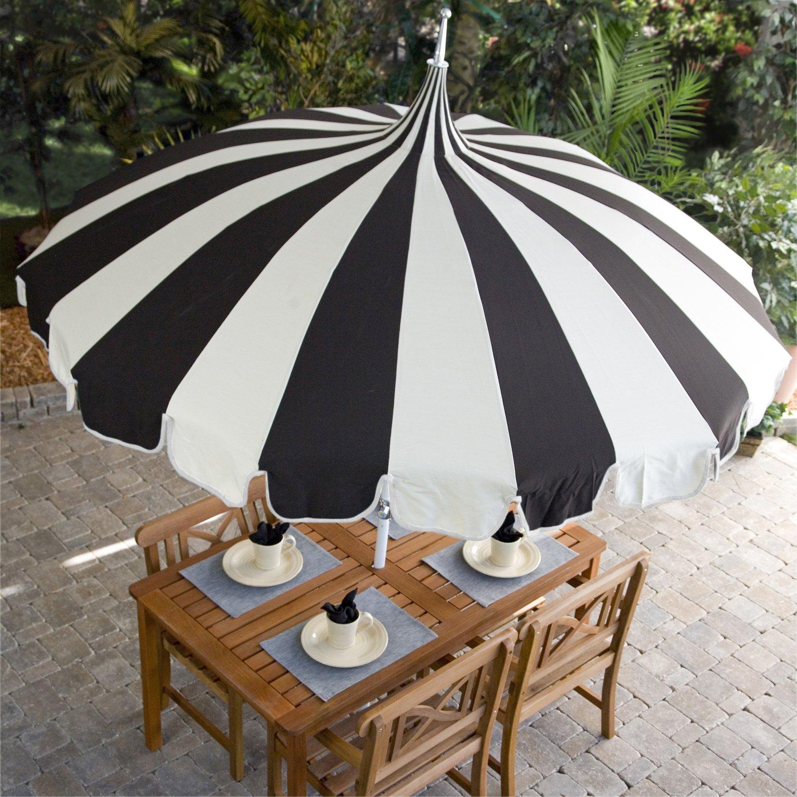 Садовый зонт круглый